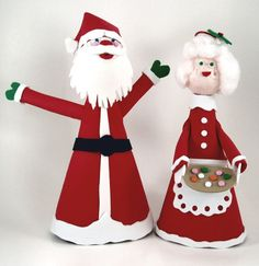 santa and mrs claus made from craft foam sheets