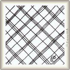 Padrão Zentangle 'MacDee' por Anneke van Dam, apresentado por www.ElaToRium.de