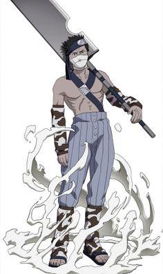 zabuza - the demon of the mist- one of the Seven ninja swordsman- Became an awesome character and embraced his emotional side- cried so much when he died back in the first Naruto series Naruto Uzumaki, Anime Naruto, Anime Echii, Kakashi Hatake, Naruto Art, Itachi, Anime Comics, Anbu Mask, Naruto Birthday