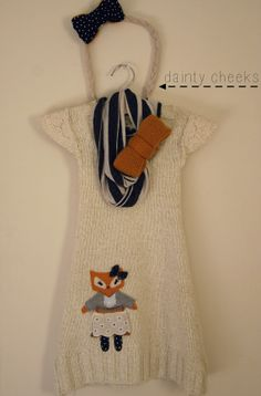 cream fox up cycled knit sweater dress by DaintyCheeksBoutique easy