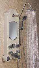 Jet Pro Imperial Shower Spa - Soft Sand Shower Suites, Steam Generator, Shower Panels, Beveled Mirror, Rain Shower, Spa Treatments, Shower Heads, Timeless Design, Sconces
