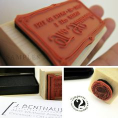 Personalized Label Rubber Stamp With Hand Sewn Graphic by 2impress, $19.95