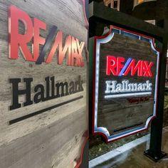 Remax Hallmark signage made by www.digitalfab.ca using our classic grey reclaimed barn board