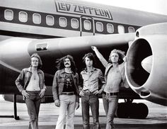 Look at us! We have an airplane!  Led Zeppelin Starship Airplane by Bob Gruen 1973
