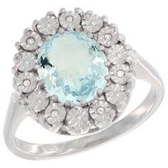 Sterling Silver Natural Aquamarine Ring Cushion cut 11x11, Diamond Accent, size 7 Gabriella Gold,http://www.amazon.com/dp/B00FM8821E/ref=cm_sw_r_pi_dp_WazHsb1A4TDRSCT0