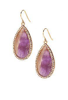 Lauren Ralph Lauren Amethyst Stone Drop Earrings #belk #gifts #jewelry