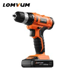 """LOMVUM 12V/16.8V/21V Cordless Drill 3/8"""" chuck Rechargeable Lithium Battery Electric Drill household screwdriver mini drill"""