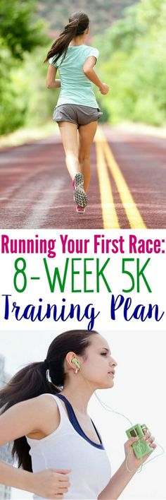 Want to get started running? This 8-Week 5K Training Plan is perfect for beginners and it has everything that you need for Running Your First Race! #5krun #5ktraining #fitness #exercise