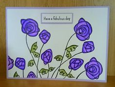 Woodware Wire Rose clear stamp.