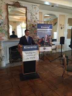 Kiwanis Entertainment Industry Group President, Zaven Pogosyan addressing the audience #Service #Leadership #Programs #Arts #Education #UNICEF #Kiwanis #Eliminate #Project #Zaven #Pogosyan