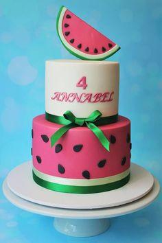 Watermelon cake – Cakes and Biscuits by Lisa – Renovieren vorher nachher Watermelon Birthday Parties, Watermelon Baby, Summer Birthday, Watermelon Cakes, Summer Cakes, Salty Cake, First Birthday Cakes, Savoury Cake, Cupcake Cookies