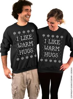 I Like Warm Hugs - Unisex Ugly Christmas Sweatshirt KoWyLR