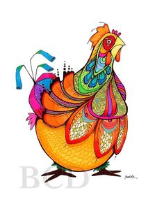 Chicken Whipple blank note cards by BrookeConnorDesign