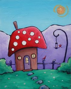 The+Mushroom+Hut by+tinyhousepaintings