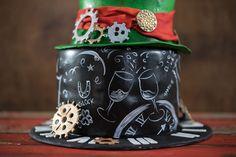 Silvester Torte / New Year's Eve Cake / Motivtorte Zahnrad & Uhr