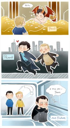 John and Sherlock Throughout Time and Space (The Hobbit, Sherlock, Star Trek Into Darkness)