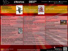 AGENDA: 05 de noviembre lunes. Encuentra los mejores eventos de cultura y ocio de Almería en Almeriaplay.com