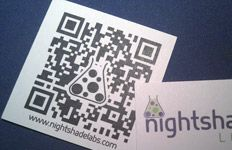 Great site for generating QR codes. I've used it to create codes for business cards, etc.