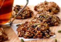 Oat-Nut-Cherry-Chip Granola Breakfast Cookies via @noblepig