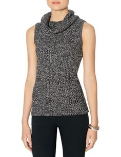 Cowl Neck Sleeveless Sweater from THELIMITED.com