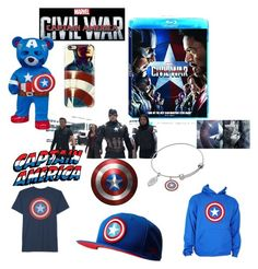 """""""Captain America:Civil War"""" by kaylucky ❤ liked on Polyvore featuring art, contestentry and CaptainAmericaCivilWar"""