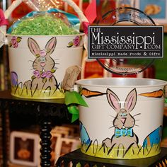 Its starting to look a lot like christmas at the mississippi gift how cute are these new easter pails a great keepsake to be treasured for years negle Image collections