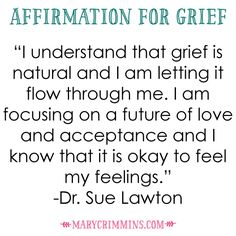 Release grief with essential oils.