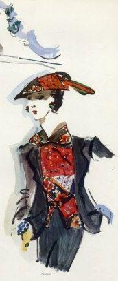 1937 - Chanel Fashion Illustration by Christian Berard