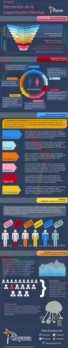 Hola: Una infografía con los elementos fundamentales de una formación efectiva. Vía Un saludo
