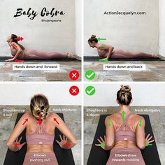 Baby Cobra Pose Bhujangasana Also Last few days to sign up for the FREE 7 Day Cleanse before it closes!! Link in bio ____________ Today's @getstretchy tutorial ♀️ continues to dive into our backbends (scroll back in my feed these last few weeks for more back bend tutorials! ♀️) Baby Cobra is an important Pose to understand because it builds strength and flexibility for backbends - and you need both!! If you are enjoying my tutorials, please tag a friend and ask them to...