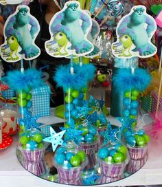 Cajas, Empaques y Bases : Dulces Temática Monsters Inc.