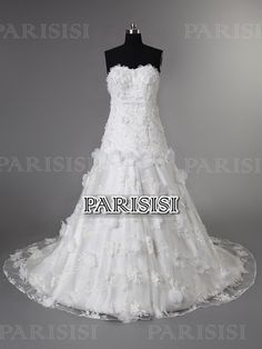 Corte A Corazón Tren Capilla Encaje Blanco vestidos de novia