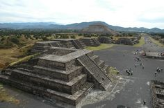 Teotihuacan, Mexico- features an array of different buildings and points of interest, including large pyramids and beautifully coloured, painted and preserved murals.