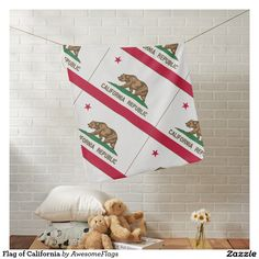 Flag of California Pramblankets