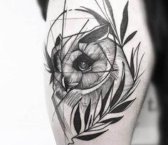 Owl tattoo by Frank Carrilho