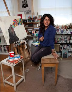 Ride Your Dragon: Artist Spotlight: Deedee Cheriel My Art Studio, News Studio, Artist Art, Artist At Work, Workspace Inspiration, Art Party, Cool Paintings, Art Techniques, Art Studios