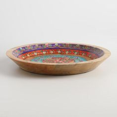 One of my favorite discoveries at WorldMarket.com: Painted Wood Parat Bowl