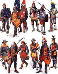 .Medieval soldiers: