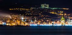 Trieste port @ night