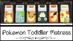Pokemon Toddler Mattress - Sims 4