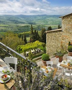 Morning views from Hotel Monteverdi, Tuscany.   #uniquehotels