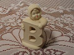 Vintage Snowbabies - Snowbabies Figurine- B is for Baby  - 14-0480 by BubbiesMemories on Etsy