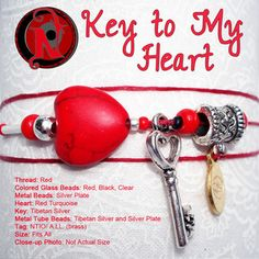 Never Take It Off — Key to My Heart NTIO Bracelet or Necklace
