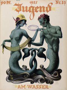 carrefouretrange:  Jugend #33, 1925, artist? (via http://digi.ub.uni-heidelberg.de/diglit/jugend?sid=7496af10818462124956a6645f7b2031) (more on the blog: http://aucarrefouretrange.blogspot.fr/2014/01/jugend-magazine-1896.html)
