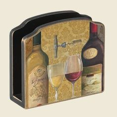 From the Celler Wine Theme Wooden Napkin Holder: Home