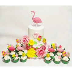 Flamingo pasta flamingo cake hawaii cupcake tropical cake