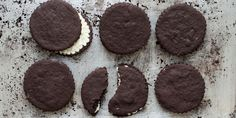 This riff on an Oreo is filled with a creamy white chocolate ganache. Make sure to use white chocolate with at least 35 percent cocoa butter when making the filling to ensure ultra-smooth melting.