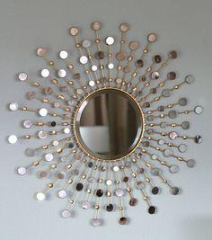 pinterest diy sunburst mirror | Found on craftysisters-nc.blogspot.com