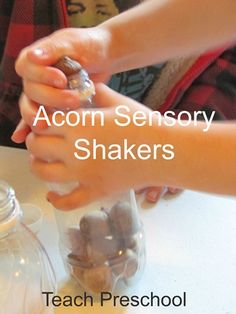 Acorn Sensory Shakers by Teach Preschool. Nuts to you By Lois Ehlert