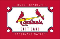 A great gift for Cardinals fans of all ages Busch Stadium, Season Ticket, Cardinals, Missouri, Great Gifts, Letters, Gift Cards, St Louis, Fun